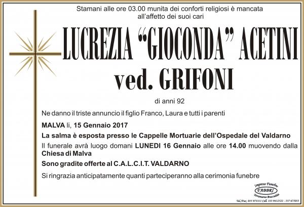 """Lucrezia """"Gioconda"""" Acetini"""