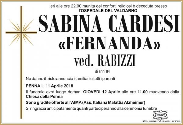 "Sabina ""Fernanda"" Cardesi"
