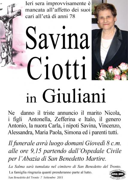 Ciotti Savina