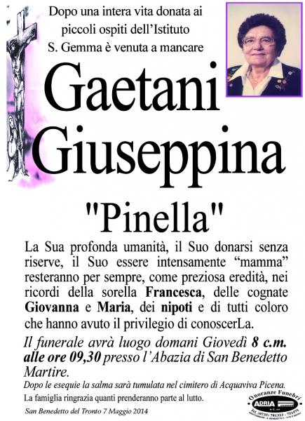"Giuseppina ""Pinella"" Gaetani"