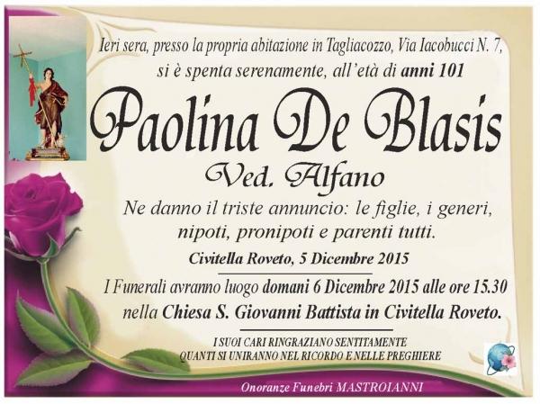 Paolina De Blasis