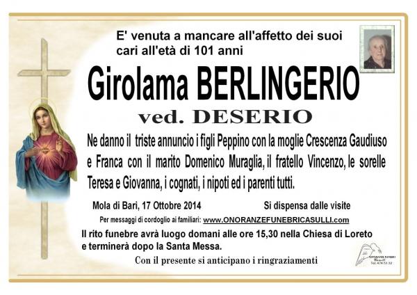 Girolama Berlingerio
