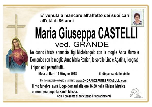 Maria Giuseppa CASTELLI