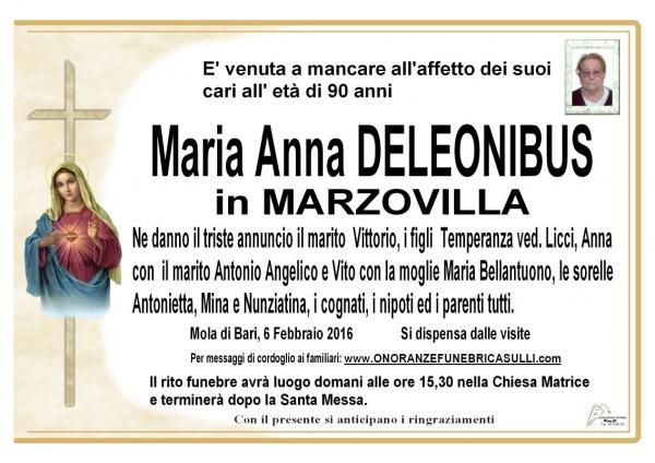 Maria Anna Onofria Deleonibus