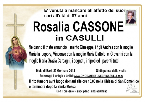 Rosalia Cassone