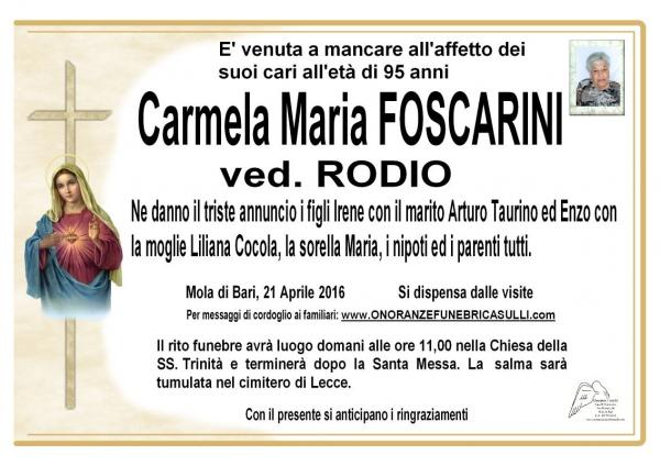 Carmela Maria Foscarini