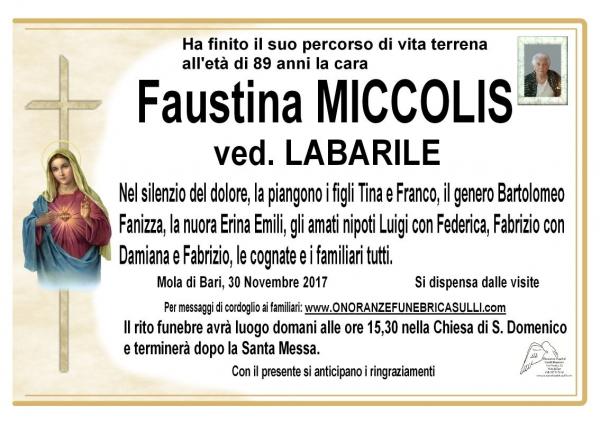 Faustina Miccolis