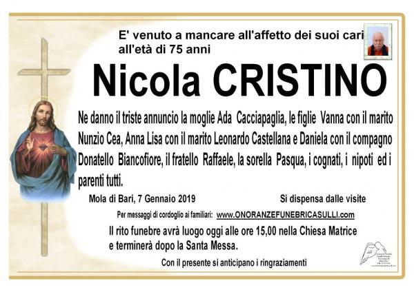 Nicola CRISTINO