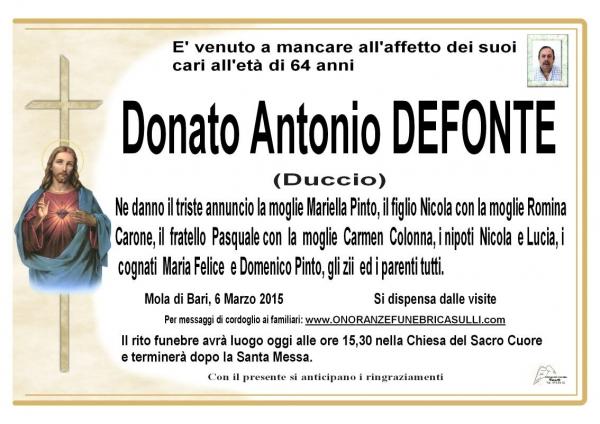 Defonte Donato Antonio