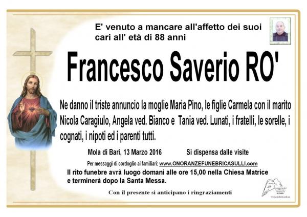 Francesco Saverio RO