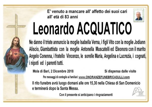 Leonardo Acquatico