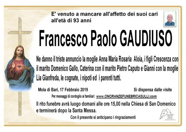 Francesco Paolo GAUDIUSO