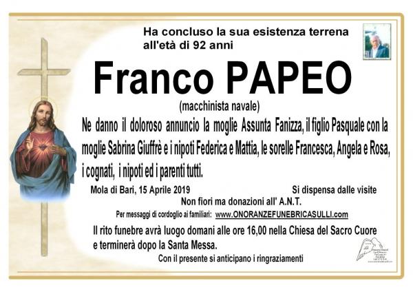 Franco PAPEO