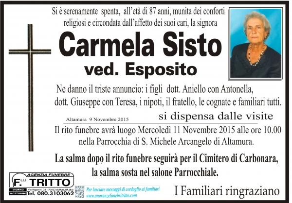 CARMELA SISTO