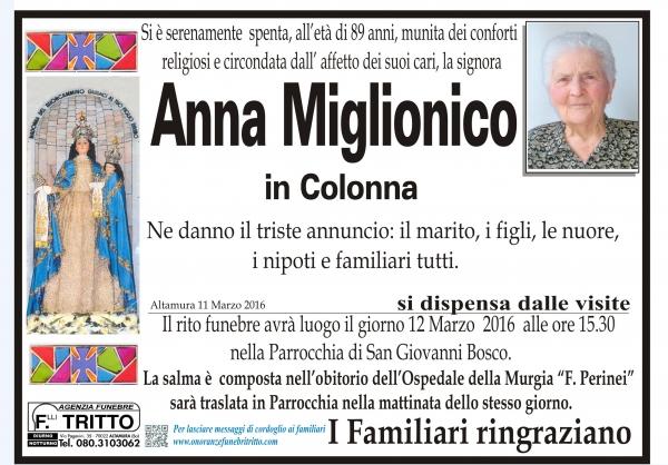 ANNA MIGLIONICO