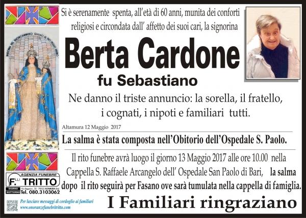 BERTA CARDONE