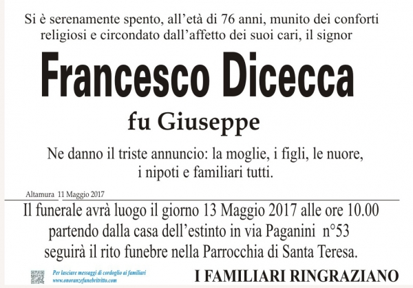FRANCESCO DICECCA