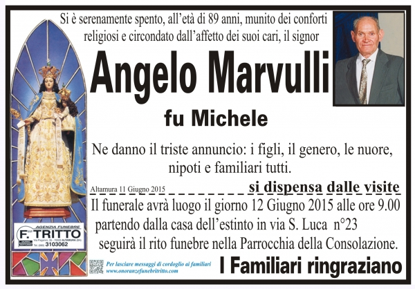 ANGELO MARVULLI