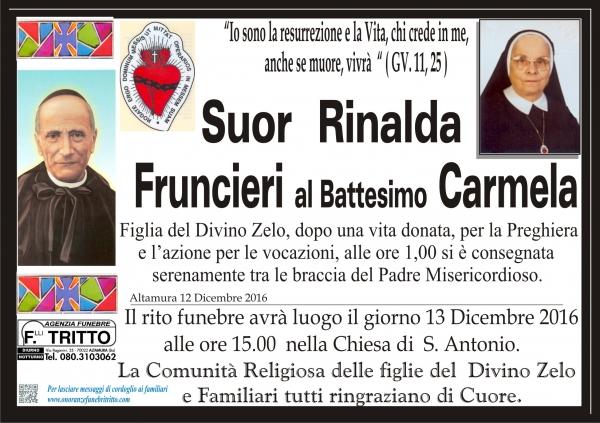 Suor  RINALDA FRUNCIERI al Battesimo Carmela