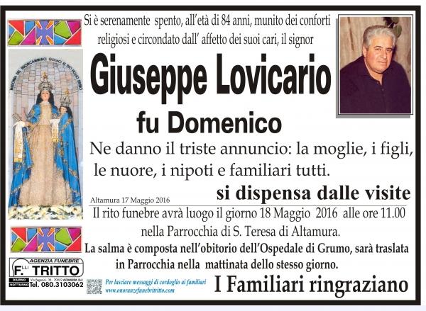 GIUSEPPE LOVICARIO