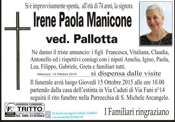 Irene Paola Maria Manicone