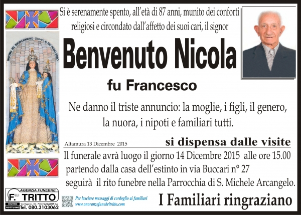 NICOLA BENVENUTO