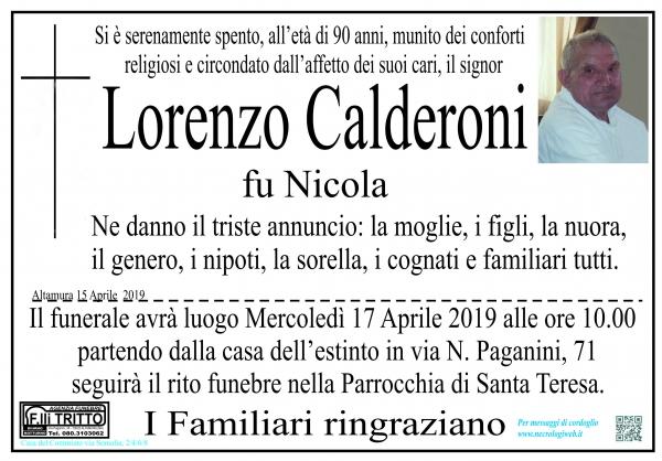 LORENZO Calderoni