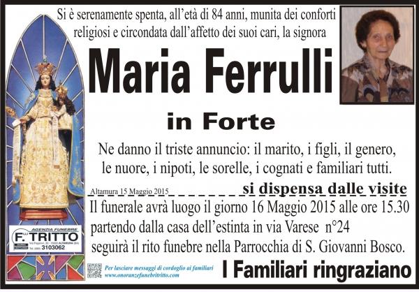 MARIA FERRULLI