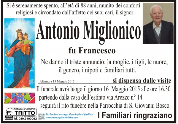 ANTONIO MIGLIONICO