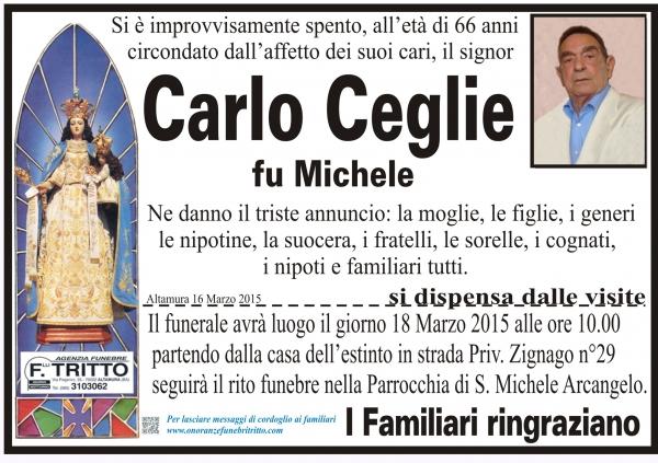 CARLO CEGLIE