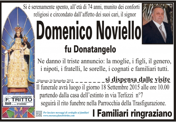 DOMENICO NOVIELLO