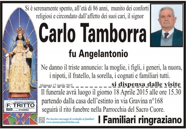 CARLO TAMBORRA