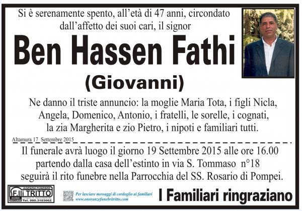 Ben (Giovanni) Hassen Fathi