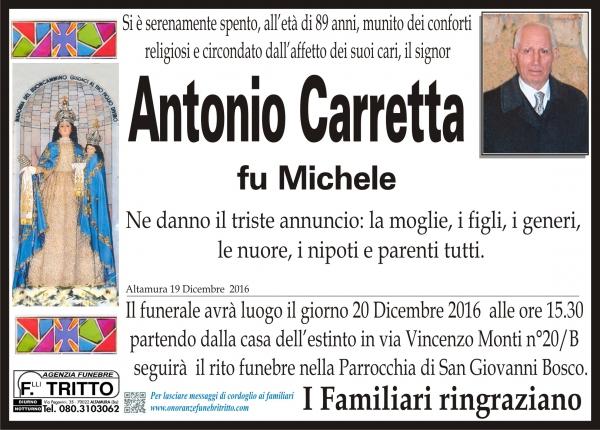 ANTONIO CARRETTA