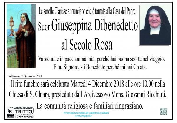 Suor Giuseppina Dibenedetto al secolo Rosa