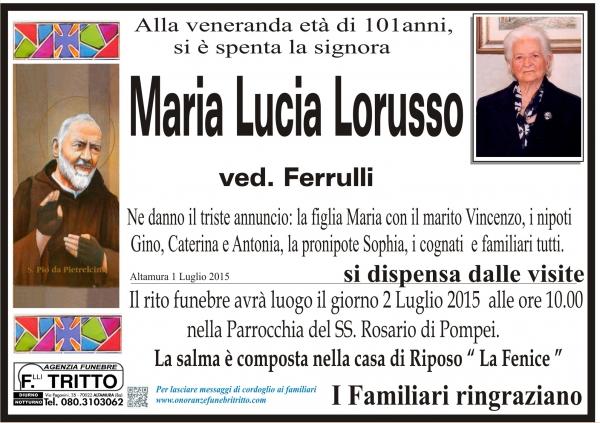 MARIA LUCIA LORUSSO
