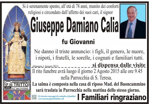 GIUSEPPE DAMIANO CALIA