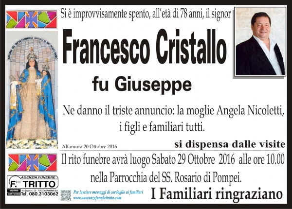 FRANCESCO CRISTALLO