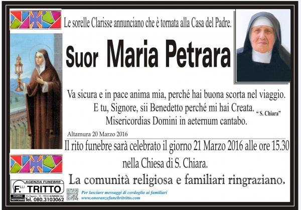Suor MARIA PETRARA