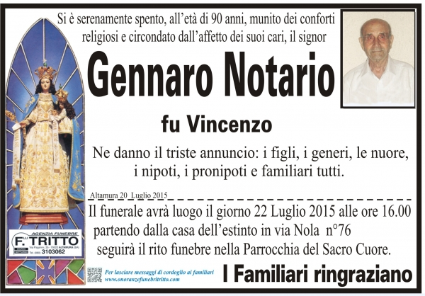 GENNARO NOTARIO