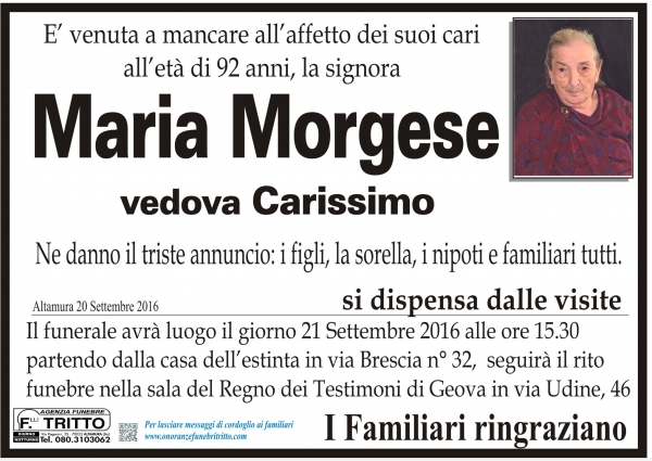 MARIA MORGESE