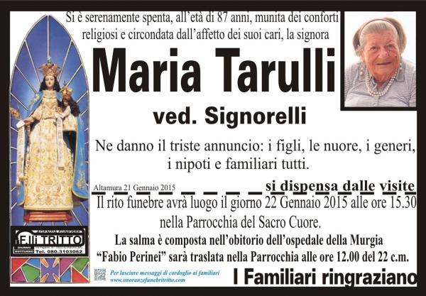 MARIA TARULLI