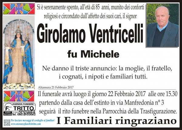 GIROLAMO VENTRICELLI