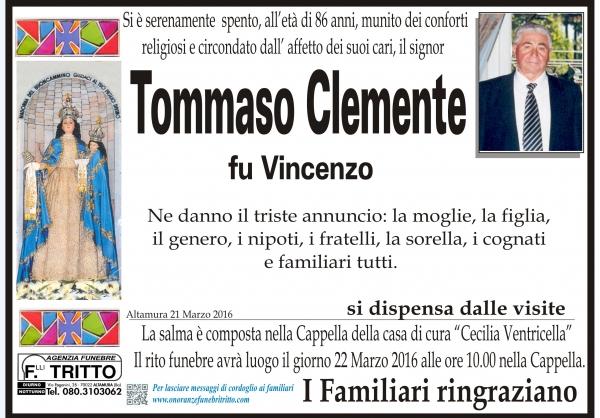 TOMMASO CLEMENTE