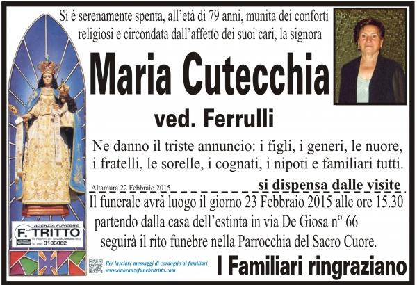 MARIA CUTECCHIA