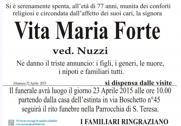 VITA MARIA FORTE