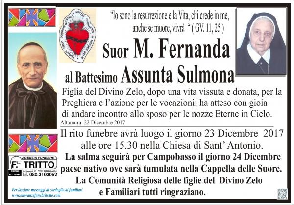 suor Assunta Sulmona al Battesimo Fernanda