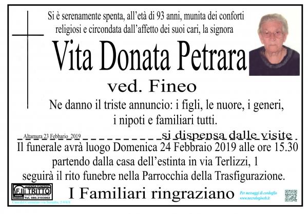 Vita Donata Petrara