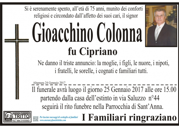 GIOACCHINO COLONNA