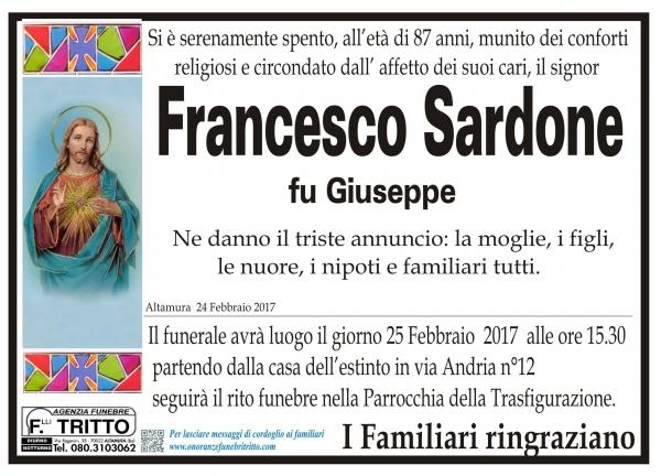 FRANCESCO SARDONE